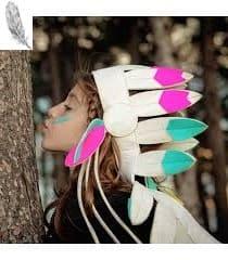 penacho de plumas para niños